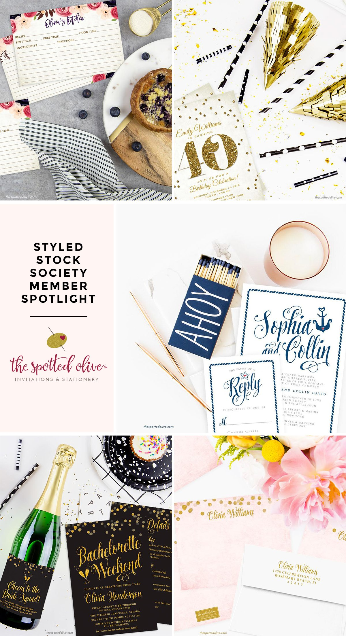 Styled Stock Society Member Spotlight: Debbie of The Spotted Olive graphics