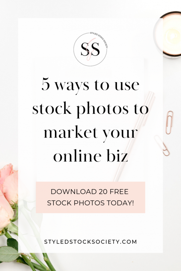 Stock photos for online marketing