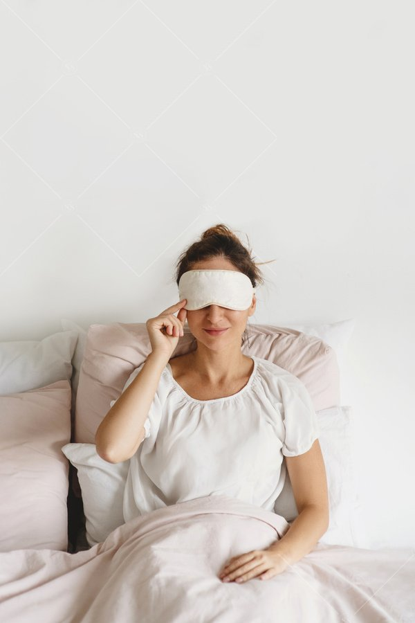 woman getting ready for bed