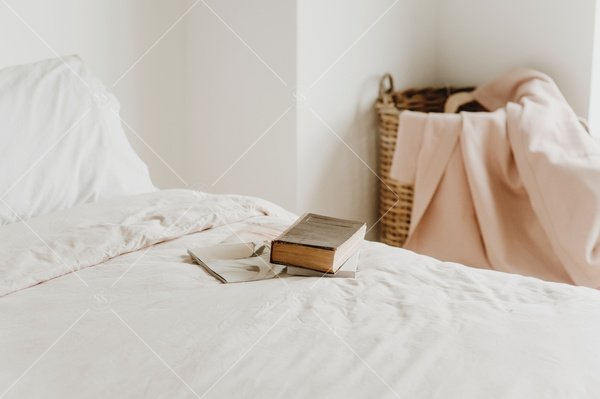 bed with books