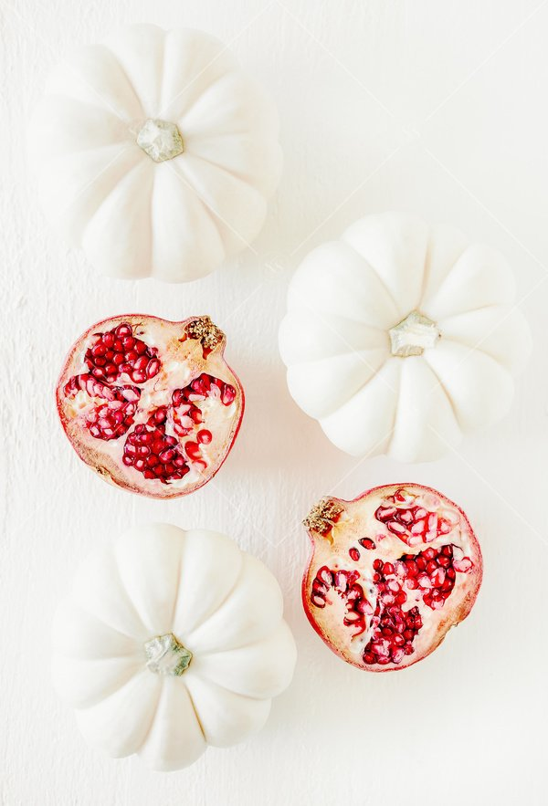 pumpkins and pomegranates