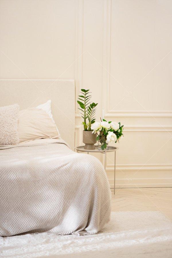 serene bedroom soft natural light