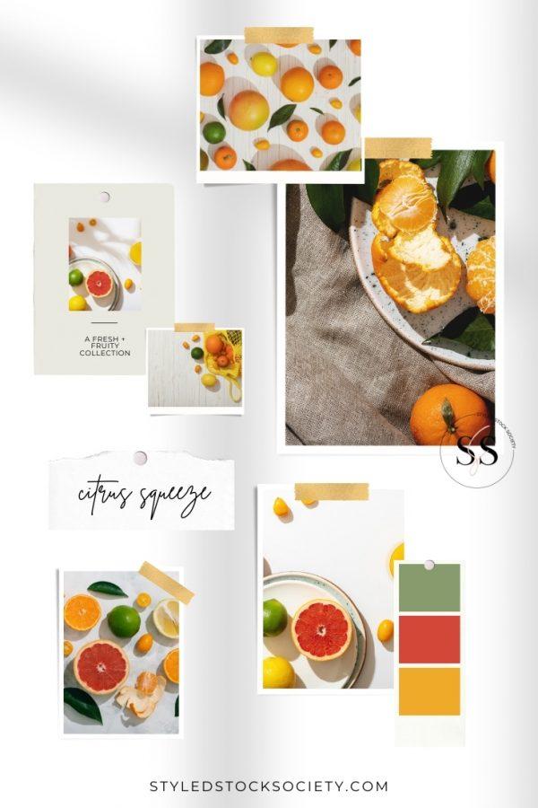 Citrus Squeeze Mood Board