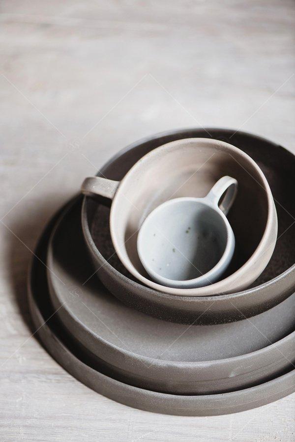handmade pottery still life stock photo