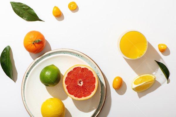 still life of citrus stock photo