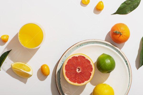 citrus still life stock photo