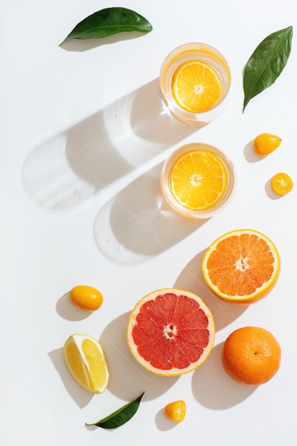 fruit water citrus still life stock photo