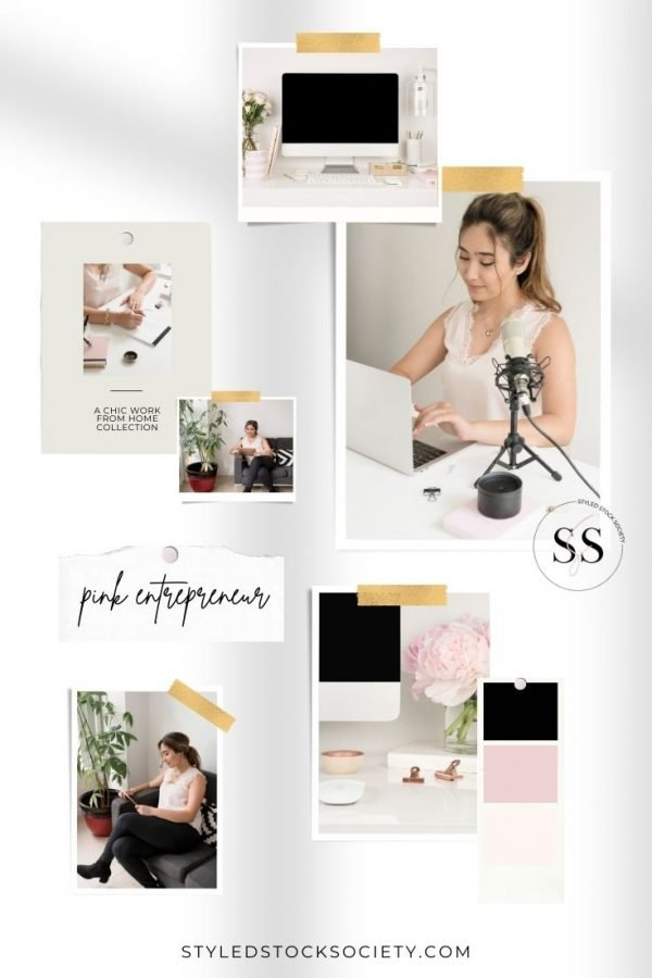 Styled Stock Society Pink Entrepreneur Mood Board