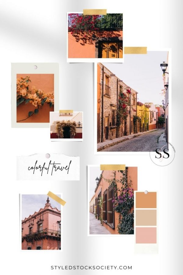 SSS Colorful Travel Mood Board