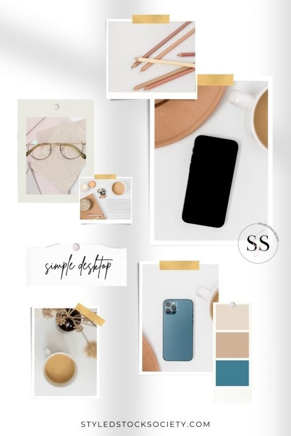 Styled Stock Society Simple Desktop Mood Board