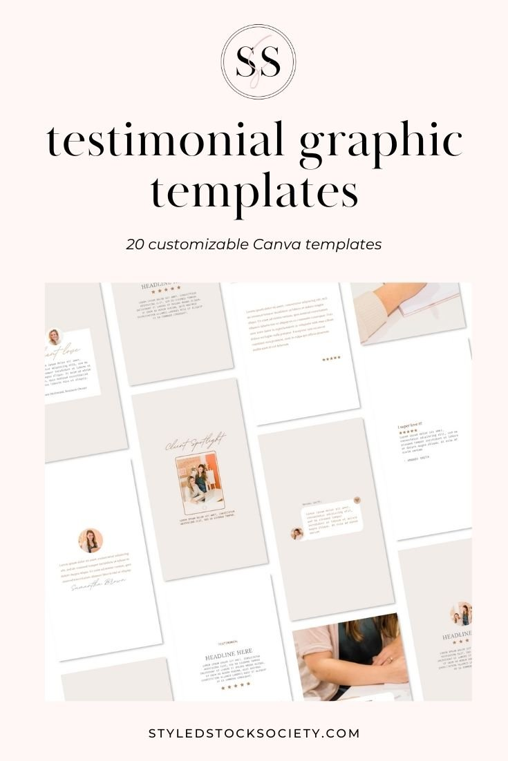 Testimonial Graphic Templates