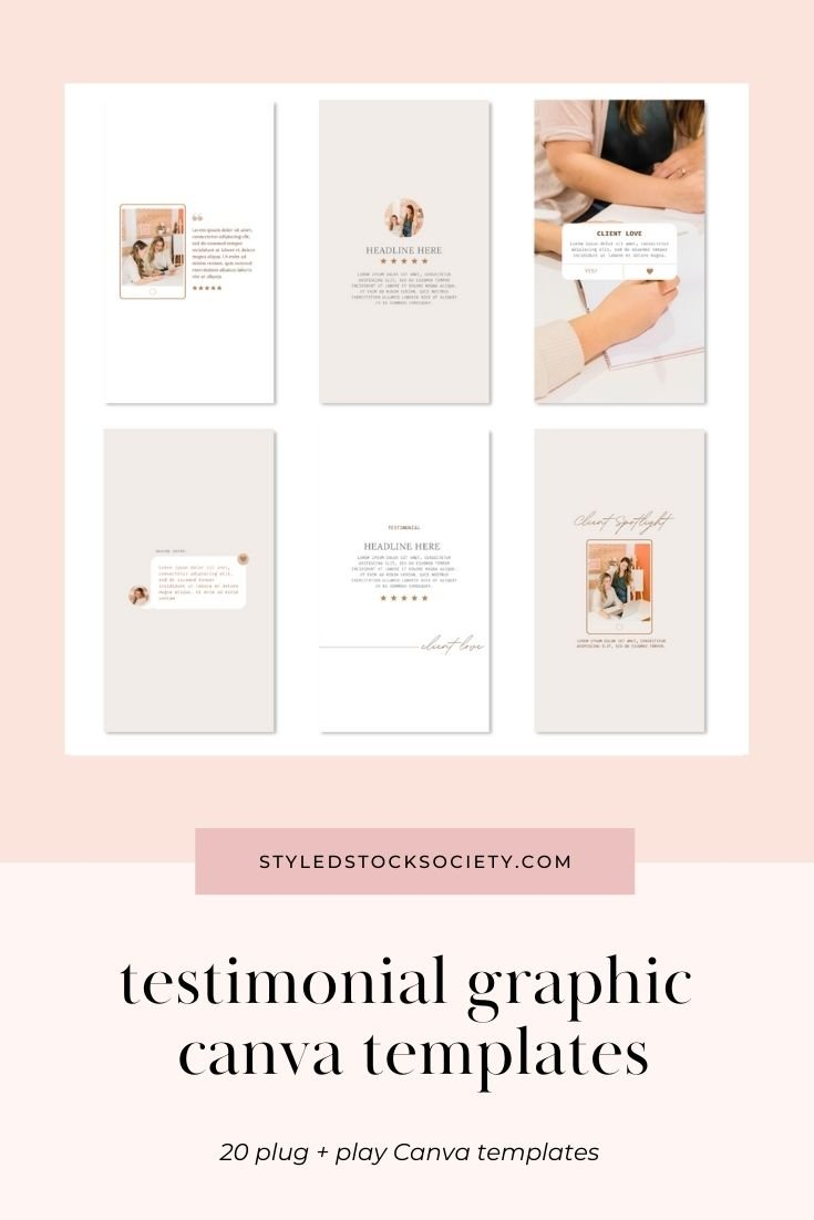 IG Story Testimonial Graphic Customizable Canva Templates