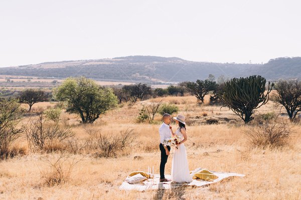 desert wedding stock photo