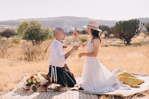 wedding desert stock photo