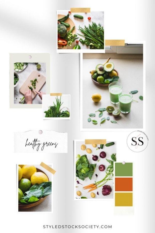 Healthy Greens Blog Mood Board