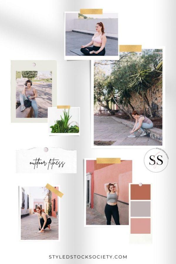 Outdoor Fitness Blog Mood Board