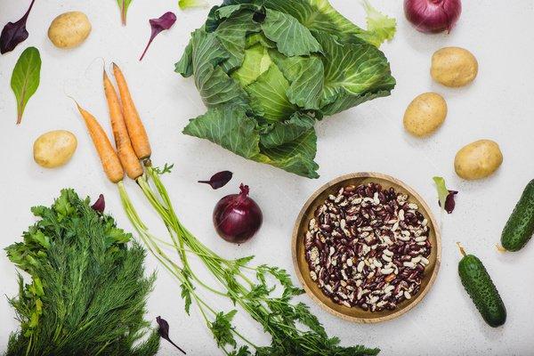 healthy vegetables still life stock photo