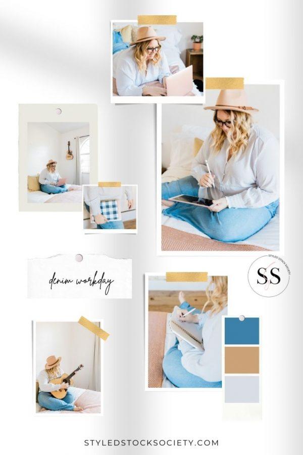 denim workday Blog Mood Board