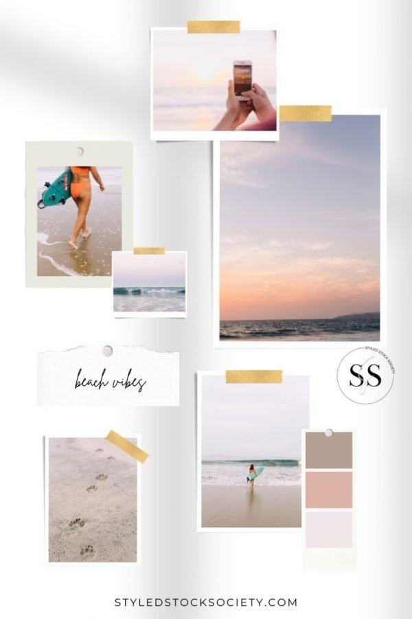 Beach Vibes Blog Mood Board
