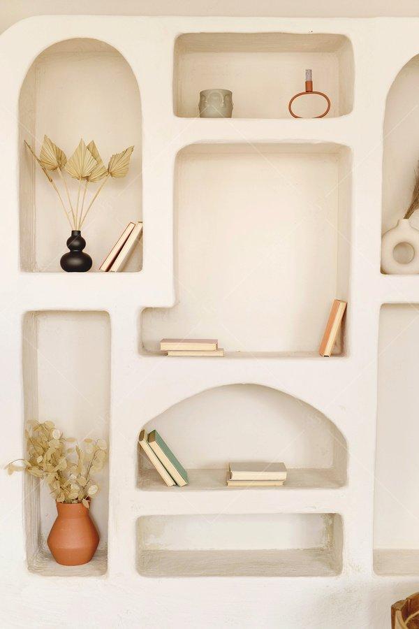 neutral home decor stock photo