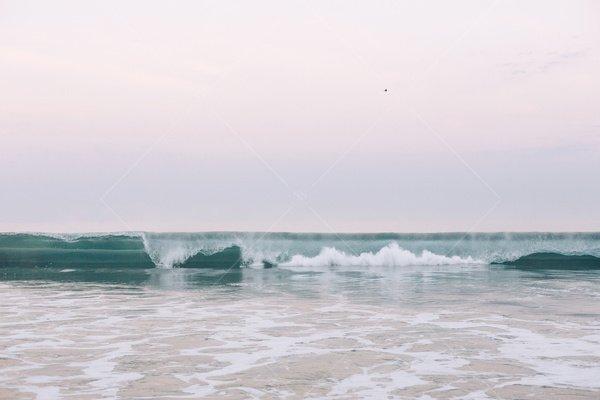 ocean waves horizon stock photo