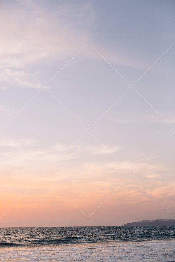 ocean sunset sunrise stock photo