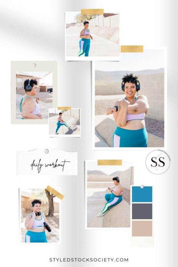 Daily Workout Blog Mood Board