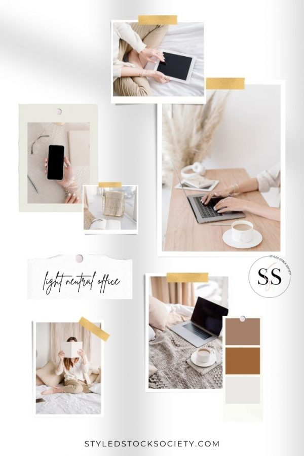 Light Neutral Office Blog Mood Board