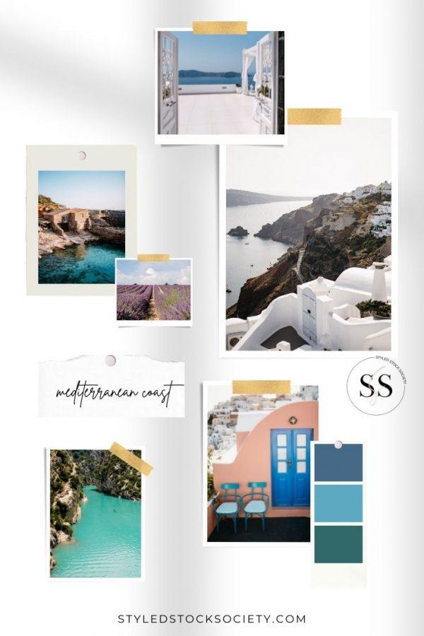 Mediterranean Coast Blog Mood Board
