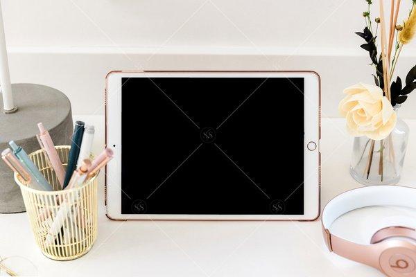 iPad mockup desktop stock photo