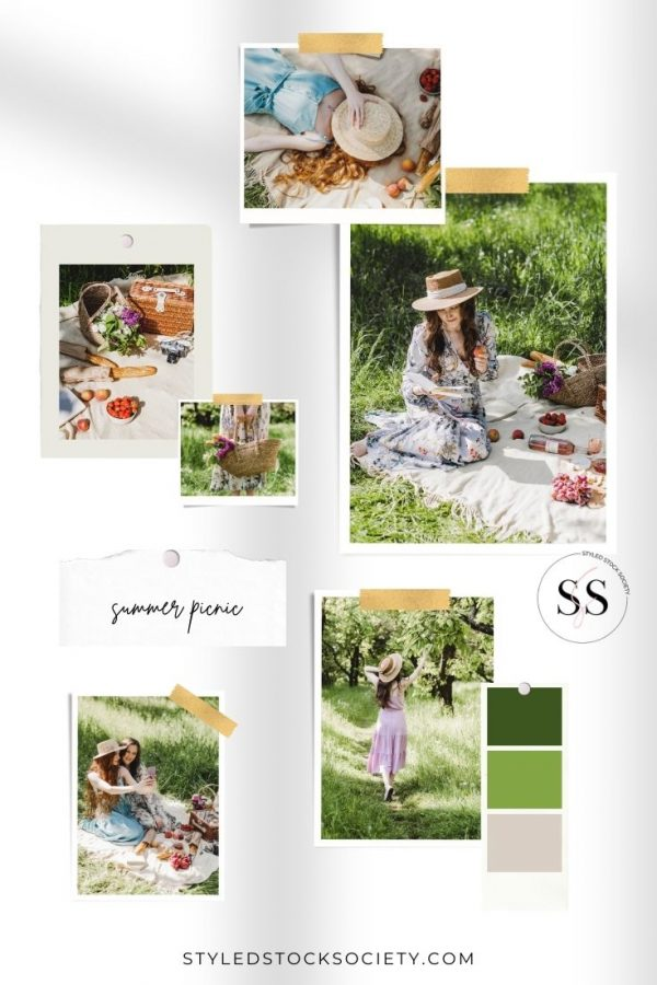 Summer Picnic Blog Mood Board