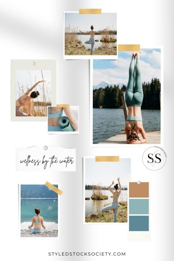 Wellness by the Water Blog Mood Board