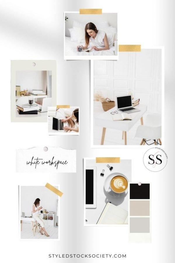 White Workspace Blog Mood Board