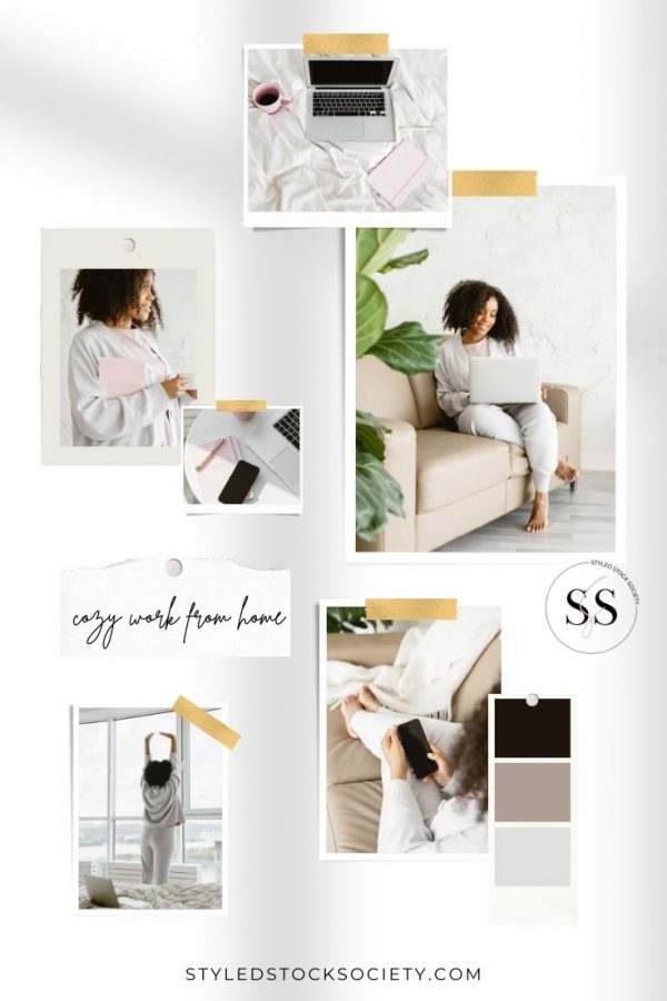 Cozy Work from Home Blog Mood Board