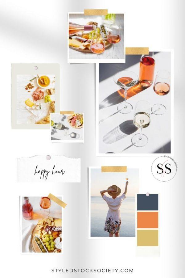 Happy Hour Blog Mood Board