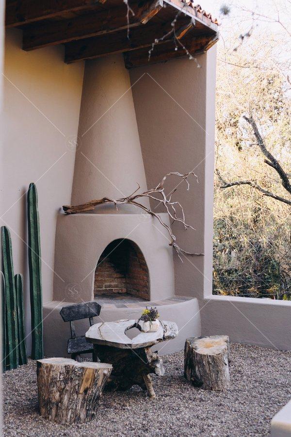 outdoor oven desert stock photo