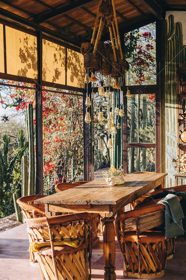 desert house interior stock photo