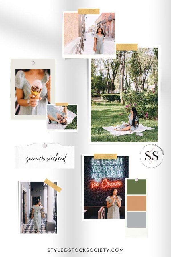 Summer Weekend Blog Mood Board