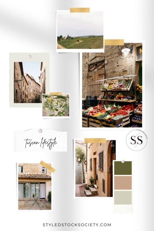Tuscan Lifestyle Blog Mood Board
