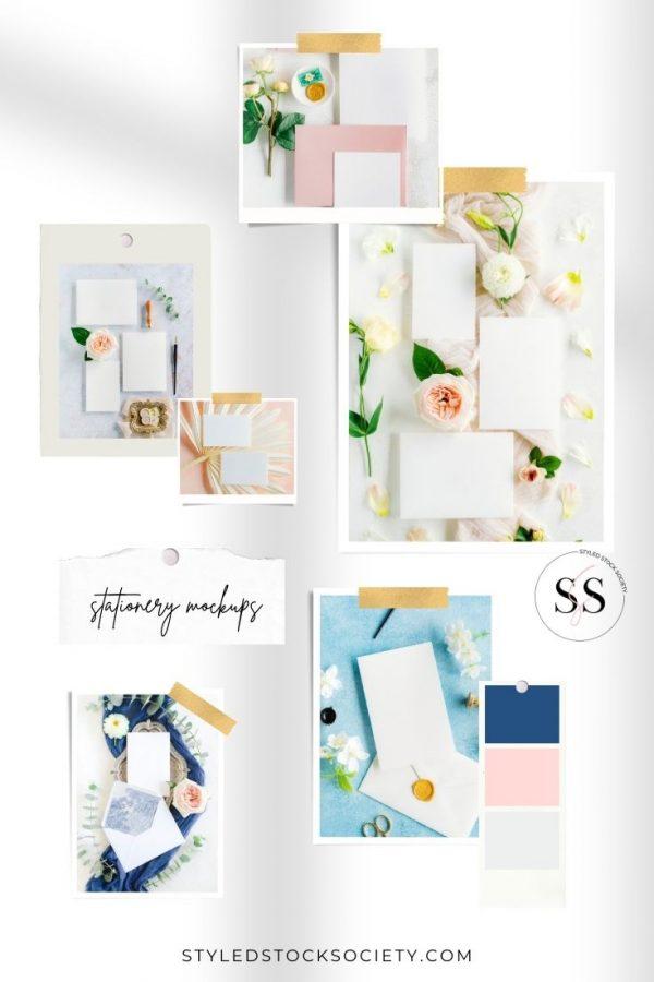 Stationery Mockups Blog Mood Board