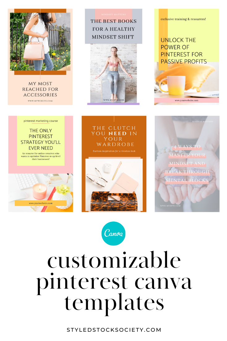 Customizable Pinterest Templates