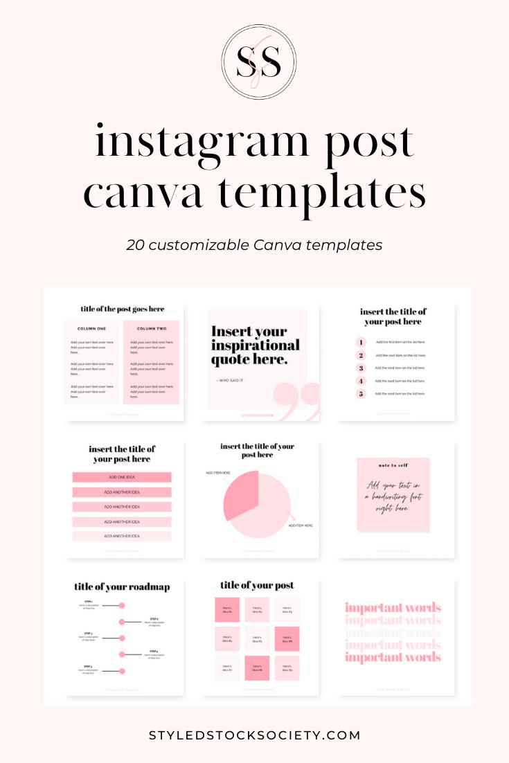 Instagram Post Canva Templates