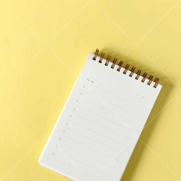 small notebook with blank to-do list