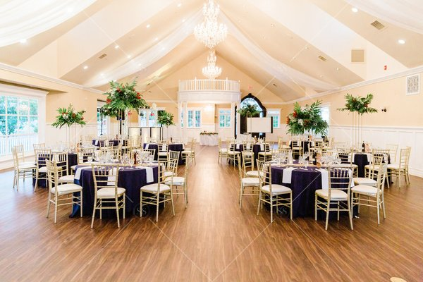 wedding reception hall without people