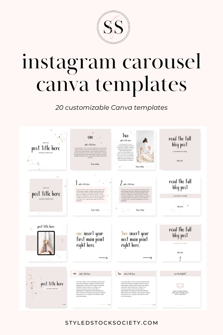 Instagram Carousel Canva Templates