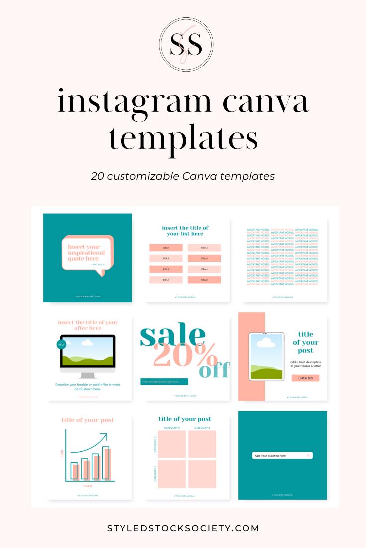 Customizable Instagram Post Templates