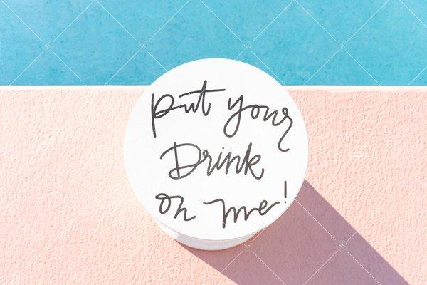 poolside drink table