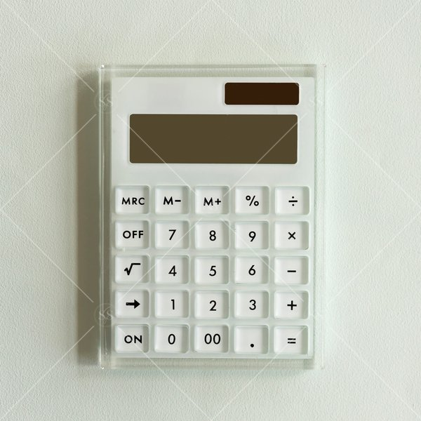 analogue calculator against a white backgroun