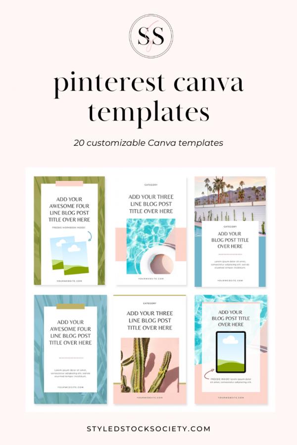 Canva templates for Pinterest