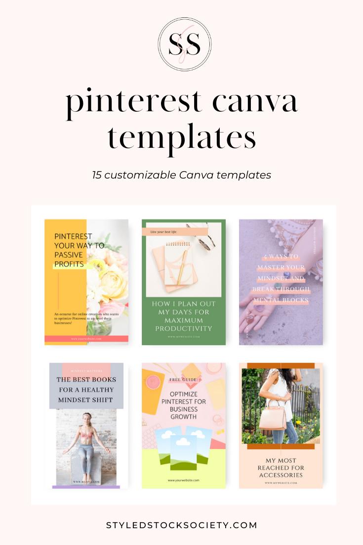 pinterest graphic canva templates